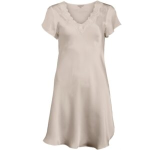 Lady Avenue Pure Silk Blonde Nightgown